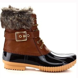 Tan Duck Boots